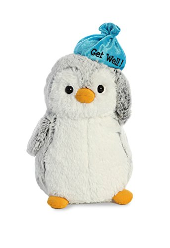 Aurora World Pompom Penguin Plush Toy Animal, Pompom Get Well, 9