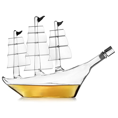 The Wine Savant Antique ExLarge Ship Whiskey Decanter Impressive Ship Decanter, Large Centerpiece For Any Bar, Office or Table - Whiskey Decanter, LiquorDecanter, Wine Decanter, ScotchDecanter by The Wine Savant