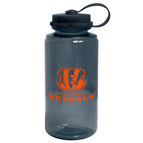 NFL Cincinnati Bengals Cap Water Bottle, 32-Ounce