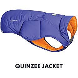 RUFFWEAR - Quinzee Insulated, Water Resistant Jacket for Dogs with Stuff Sack, Huckleberry Blue, X-Small