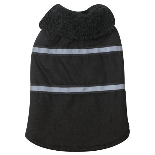 Zack and Zoey Polyester/Cotton Duck Ranch Dog Coat, Small, Black, My Pet Supplies