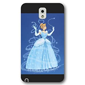 meilinF000Customized Black Frosted Disney Princess Cinderella Samsung Galaxy Note 3 CasemeilinF000