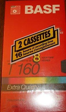 basf-t-160-8-hour-blank-vhs-video-cassette-recording-tape-pack-of-2