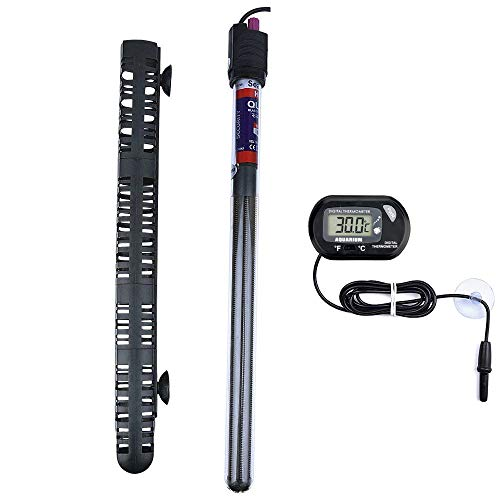 300W Aquarium Heater Submersible Fish Tank Heater with Protective Sleeve & Suction Cup,Explosion-Proof and Auto Thermostat