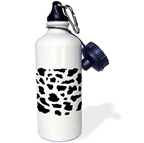 Amazon.com: Sports Water Bottle Gift, Black And White Cow ...