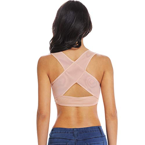 Chest Brace Up for Women Posture Corrector Shapewear Tops Compression Bra Support Vest Shaper