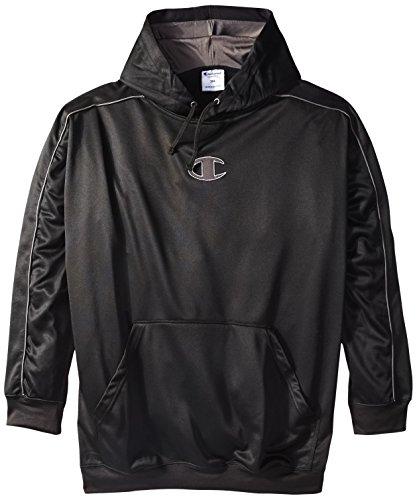 Champion Men's Big-Tall Pullover Performance Fleece Hoodie Sweatshirt, Black/Storm, 4X