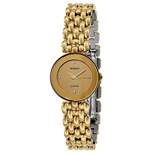 Rado Women's R48745724 Florence Jubile Swiss Quartz Gold - Rado Ladies Gold Watch
