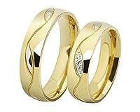 Los nuevos anillos de los anillos de pareja de boda anillos de compromiso oro al por mayor 025