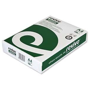Revive Business - Papel para impresoras (100 gsm, A4, 500 hojas, reciclado), color blanco