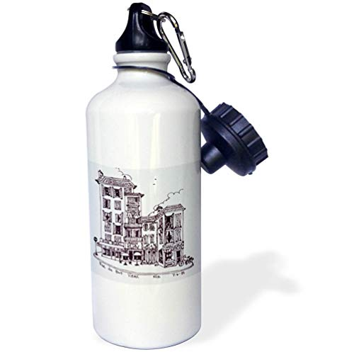 3dRose Danita Delimont - France - Rue du Port Vieux in Nice, France - Flip Straw 21oz Water Bottle (wb_313147_2)