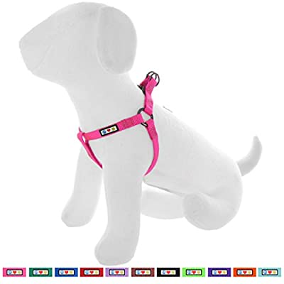 Pawtitas Pet Adjustable Solid Color Step In Puppy / Dog Harness 6 feet Matching Collar and Harness sold separately
