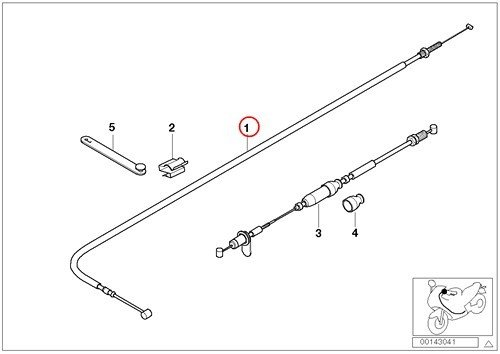BMW Genuine Motorcycle Bowden Cables Break Contact Throttle