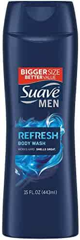 Suave Men Body Wash, Refresh 15 oz