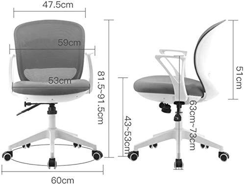 Hem kontorsstol, mellanrygg nät dator skrivbord svängbar stol ergonomisk administrativ uppgift stol med armstöd knästol