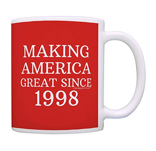 21st Birthday Gifts For All Making America Great Since 1998 Birthday Mug Birthday Gifts Coffee Mug Tea Cup Red