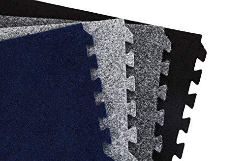 IncStores Premium Soft Carpet Foam Tiles 2ft x 2ft (25 Tiles, Light Grey, with Wheeled Soft Case) Interlocking Home & Trade Show Flooring Foam Mats Including 2 Edge Pieces… ()