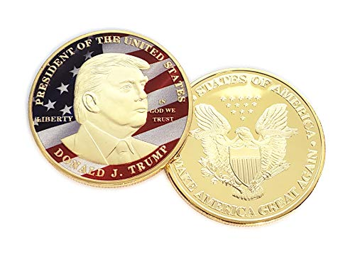 24k Commemorative Coin - Donald Trump 'American Eagle' Commemorative Coin, 24K Gold Plated | Red, White, and Blue