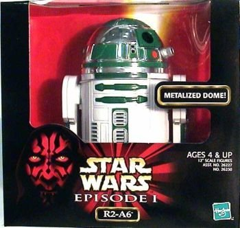 Star Wars Episode 1 R2-A6 with Metalized Dome by Hasbro 1998 Hasbro Toys