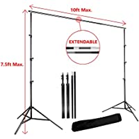 Lusana STUDIO Photo Video Studio 10ft Photography Photo Backdrop Stand Background Support System Kit, LNA1009-EYLS1003