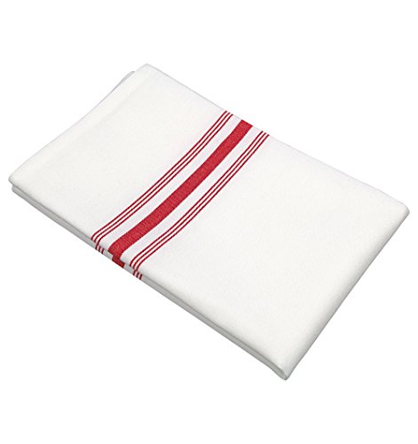 - RC ROYAL CREST by Sigmatex-Lanier Textiles Cloth Dinner Bistro Napkins Restaurant Quality 18 x 22 Inches 12 Pack (Red Stripes)