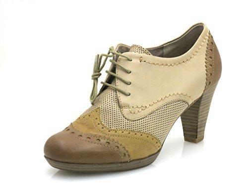 Marco Tozzi Zapatos Con Cordones Zapatos De Cuero Altos Delanteros Zapatos De Mujer 23304