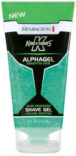 Remington, King of Shaves, Alphagel, Cooling Menthol Shave Gel 5 Oz. (Pack of 4) by Remington