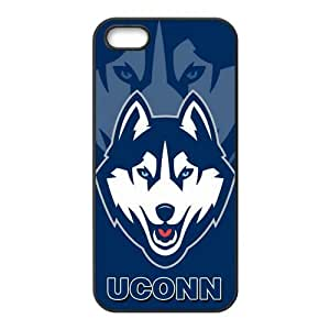 Custom UCONN Husky NCAA Apple Iphone 5 and 5s Hard Case Cover phone Cases Covers