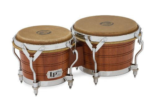 Bongos Traditional Rims - Latin Percussion LP1964 Original 1964 Mahogany Bongos