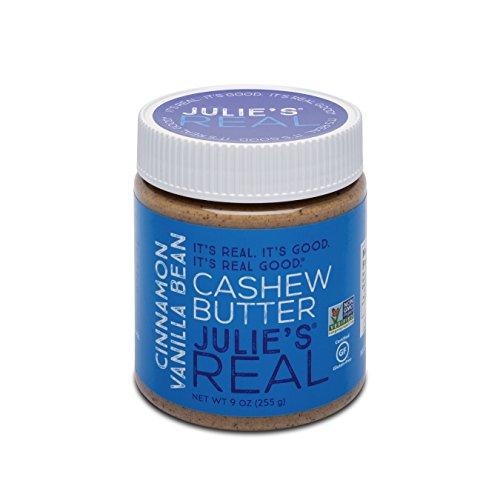 Almond Cashew Sugar - Julie's Real Smooth Cinnamon Vanilla Cashew Butter - Gluten-free, Paleo, Peanut-free - 9 oz