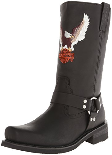 Harley-Davidson Men's Darren Motorcycle Harness Boot, Black, 10.5 M US