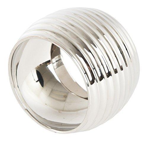 SARO LIFESTYLE NR410.S Shape Round Shape Napkin Rings (4 Pack) Silver [並行輸入品]   B079VTB1B6