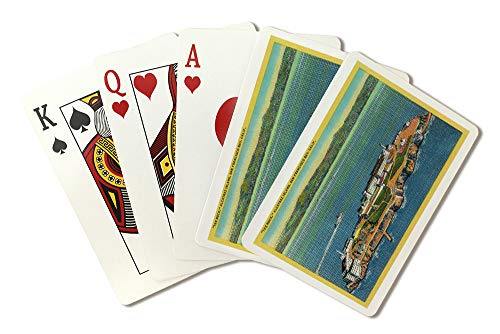 The Rock, Alcatraz Island and San Francisco Bay (Playing Card Deck - 52 Card Poker Size with Jokers)