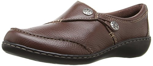 - CLARKS Women's Ashland Lane Q Slip-On Loafer, Redwood, 8.5 W US