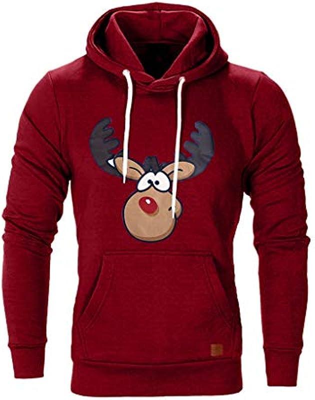 Fannyfuny męska bluza z kapturem sweter z kapturem na Boże Narodzenie bluza z kapturem męska bluza z kapturem jesień zima kieszeń kangurka bluza z kapturem ciepłe Boże Narodzenie topy maryna