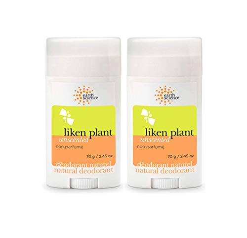 - Earth Science Liken Plant Deodorant, Unscented - 2.5 oz - 2 pk