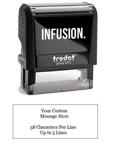 Medium Address Stamp (Infusion Custom Self-Inking Rubber Stamp - Medium Stamp - (1
