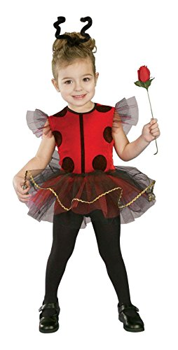 Forum Novelties Baby Girl's Lil Lady Bug Toddler Costume, Red/Black