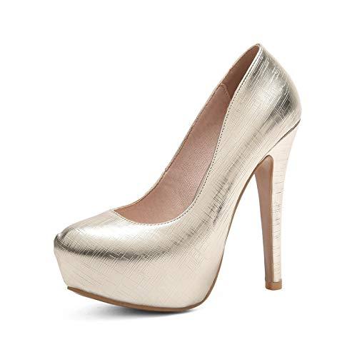 HOESCZS 2018 Neue Plus Größe 33-48 Slip Frauen On Rot Rosa Frauen Slip Schuhe Dünne High Heels Plattform Frauen Pumps Schuhe cb0dee