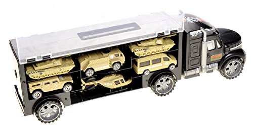 PowerTRC Military Transport Truck - Includes Tanks, Helicopters, Additional Slots for Other Vehicles