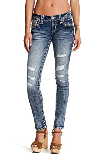 f152b3218e1296 Rock Revival Barby S200 Vintage Distressed Skinny Jeans (24, Barby)