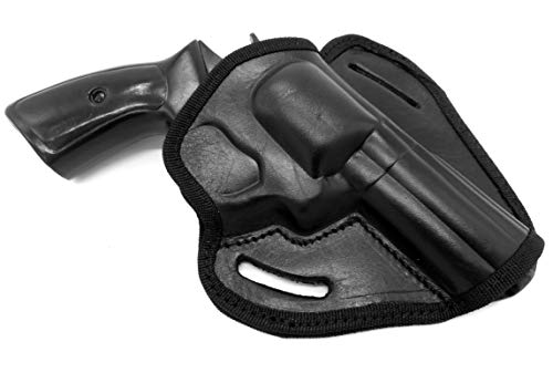 HOLSTERMART USA CEBECI ARMS Black Leather Open Top Right Hand Belt Holster for Taurus Tracker 44 Magnum Revolver, 4