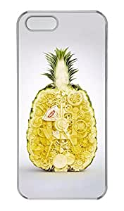 iPhone 5/5s Case, Personalized Protective Pineapple2 Case for iPhone 5/5S PC Clear Phone Cover