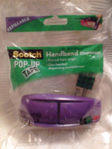 Pop-up Handband Hand Band Refillable Single 1-Handed Tape Dispenser, Purple