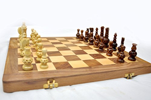 KIMARO Wooden Chess Set - 16 x 16