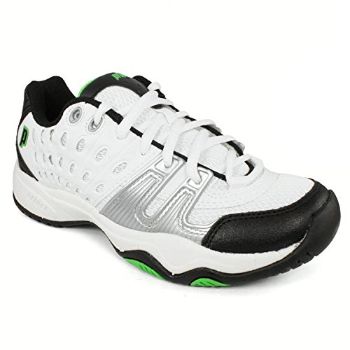Prince Kids' 8P310149-T22 Jr Tennis Shoe,White/Black/Green,1 M US Little Kid