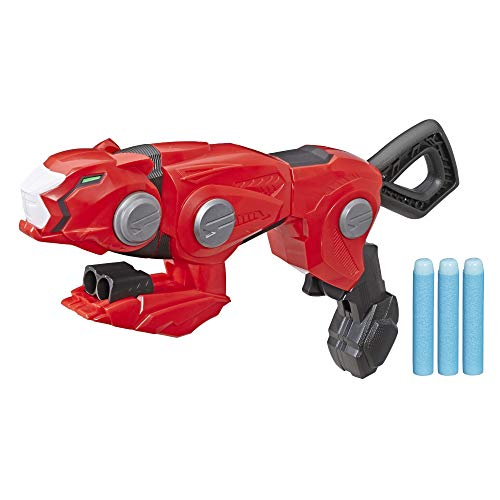 Power Rangers Beast Morphers Cheetah Beast Blaster from TV Show Red Ranger Roleplay Toy, Includes 3 Nerf Darts -