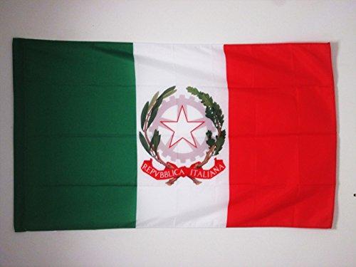 AZ FLAG Bandiera STENDARDO PRESIDENZIALE d'Italia 90x60cm - Bandiera Italiana 60 x 90 cm Foro per Asta