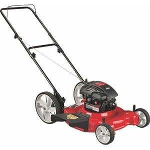 Yard Machines 11A-B04E000 21-Inch 158Cc Briggs & Stratton Mulch/Side Discharge Gas Powered Push Lawn Mower With High Rear Wheels
