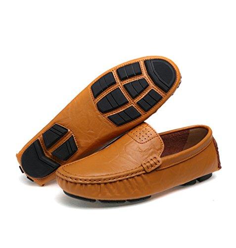 Zapatos Cómodos Hombre Mocasines Zapatos Negocio Moda Planos Amarillo Casual Dooxi Conducción Loafer de zqp5qd